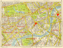 WESTMINSTER CHELSEA LAMBETH Battersea Mayfair Victoria. GEOGRAPHERS A-Z 1964 map